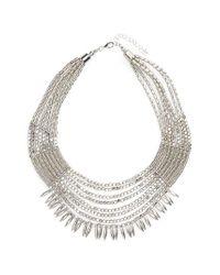 Panacea | Metallic Beaded Collar Statement Necklace | Lyst