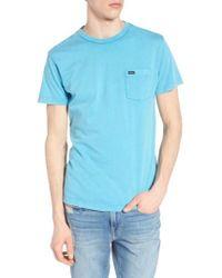 RVCA - Blue Ptc Fade T-shirt for Men - Lyst