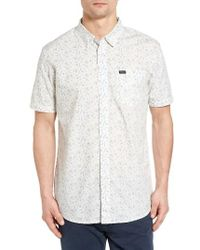 RVCA - White Sea And Destroy Print Woven Shirt for Men - Lyst