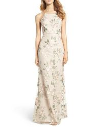 Jenny Yoo | Natural Claire Floral Embroidered Gown | Lyst