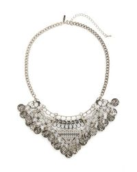 TOPSHOP | Metallic Coin Collar Necklace | Lyst