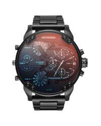 DIESEL - Black Diesel Mr. Daddy 2.0 Chronograph Bracelet Watch for Men - Lyst