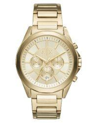 Armani Exchange | Metallic Chronograph Bracelet Watch | Lyst