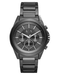 Armani Exchange | Black Chronograph Bracelet Watch | Lyst