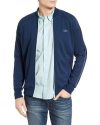 Lacoste | Blue Waffle Knit Track Jacket for Men | Lyst
