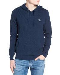 Lacoste Blue Milano Stitch Hoodie for men