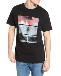 Billabong | Black Route 73 Graphic T-shirt for Men | Lyst