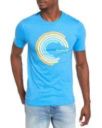 Hurley | Blue Spectrum Graphic T-shirt for Men | Lyst