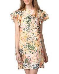 Donna Morgan | Multicolor Flutter Sleeve Shift Dress | Lyst