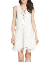 Adelyn Rae | White Lace Shift Dress | Lyst