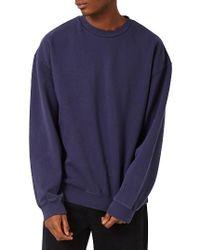 TOPMAN | Blue Oversize Sweatshirt for Men | Lyst