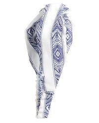Berry | Blue Interlock Head Wrap | Lyst