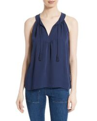 Joie | Blue Kadeem Silk Top | Lyst