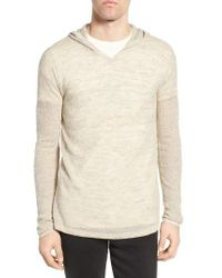 John Varvatos | Natural Pullover Hoodie Sweater for Men | Lyst