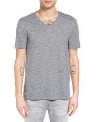 John Varvatos | Gray V-neck T-shirt for Men | Lyst