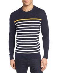 Jack Spade | Blue Breton Stripe Sweater for Men | Lyst