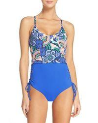 Maaji   Blue Reversible One-piece Swimsuit   Lyst