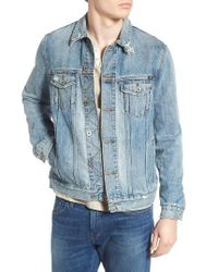Lucky Brand | Blue Lakewood Distressed Denim Jacket for Men | Lyst