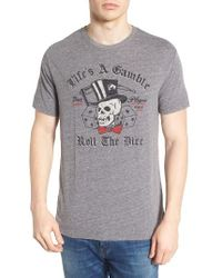 Lucky Brand | Gray Life's A Gamble T-shirt for Men | Lyst