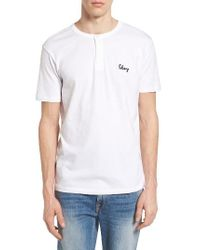 Obey White Assignment Henley for men