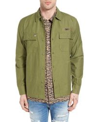 Obey Green Mission Military Shirt Jacket for men