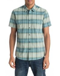 Quiksilver - Green Everyday Check Woven Shirt for Men - Lyst
