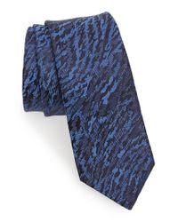 Lanvin   Blue Jacquard Silk Skinny Tie for Men   Lyst