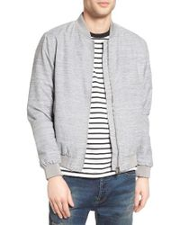 TOPMAN | Gray Textured Bomber Jacket for Men | Lyst
