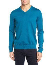 Ted Baker | Blue Alterna V-neck Sweater for Men | Lyst