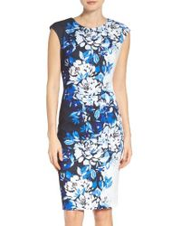 Vince Camuto | Blue Sheath Dress | Lyst