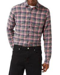 TOPMAN - Multicolor Check Flannel Shirt for Men - Lyst