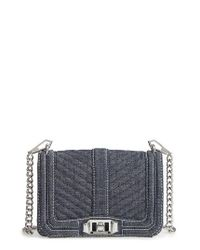 Rebecca Minkoff | Blue Small Love Denim Crossbody Bag | Lyst