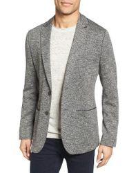 Ted Baker | Gray Italy Modern Slim Fit Textured Jersey Blazer for Men | Lyst