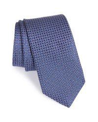 John W. Nordstrom | Blue John W. Nordstrom Geometric Silk Tie for Men | Lyst