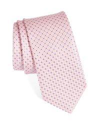 John W. Nordstrom | Pink John W. Nordstrom Geometric Silk Tie for Men | Lyst