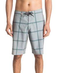 Quiksilver | Blue Primetime Check Print Board Shorts for Men | Lyst