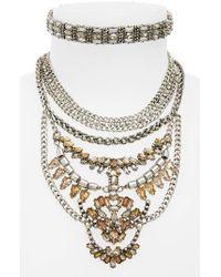 BaubleBar | Gray Xenia Choker Bib Necklace | Lyst