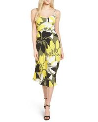 Bailey 44 | Yellow Floral Print Midi Dress | Lyst
