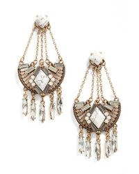 Cara | Metallic Statement Earrings | Lyst