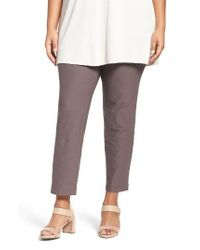 Eileen Fisher | Multicolor Slim Washable Stretch Crepe Ankle Pants | Lyst