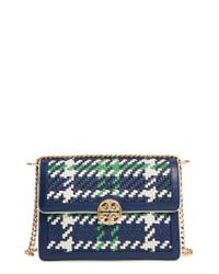 Tory Burch | Green Duet Woven Leather Shoulder Bag | Lyst