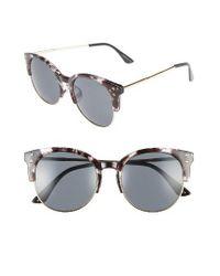 A.J. Morgan | Gray Newport 55mm Retro Sunglasses | Lyst