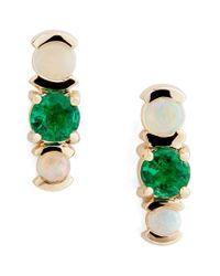 Mociun | Green Emerald & Opal Cluster Earrings (nordstrom Exclusive) | Lyst