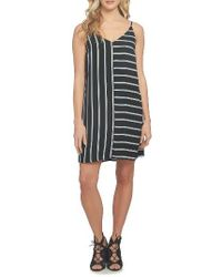 1.STATE - Multicolor Mixed Stripe Shift Dress - Lyst