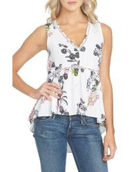 1.STATE - Multicolor Floral Print Tank - Lyst