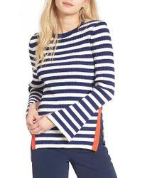 KUHO - Blue Stripe Sweater - Lyst