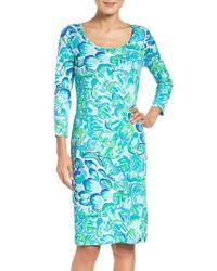 Lilly Pulitzer - Blue Lilly Pulitzer Kenzi Midi Dress - Lyst