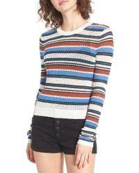 RVCA | Multicolor Polly Stripe Sweater | Lyst