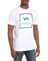RVCA | White Stringer All The Way Graphic T-shirt for Men | Lyst