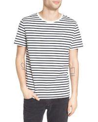 AG Jeans | White Julian Stripe Crewneck T-shirt for Men | Lyst